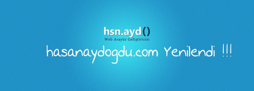hasanaydogdu.com yenilendi !!!